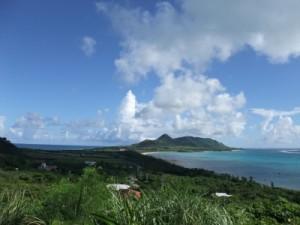 玉取崎展望台から北側の景色