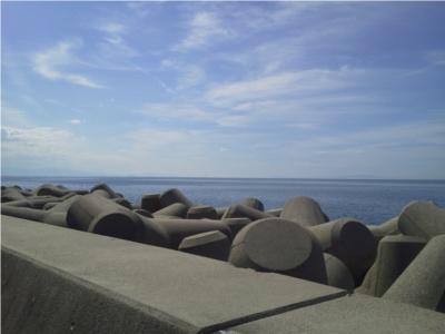 海の駅蜃気楼からの富山湾
