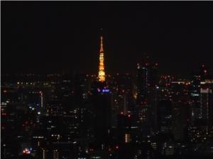 """サンシャインから見た""""東京タワー"""""""