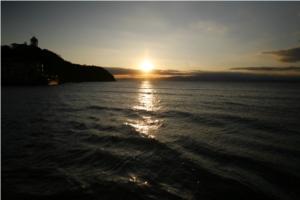 江ノ島大橋からの夕陽