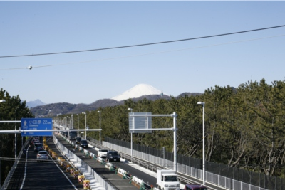 平塚駅南口交差点の歩道橋