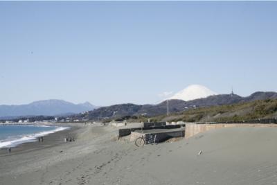ビーチセンターからの富士山