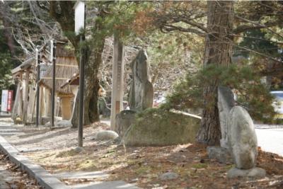 穂高神社「塩の道 道祖神」