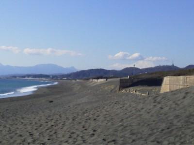 海岸からの富士山